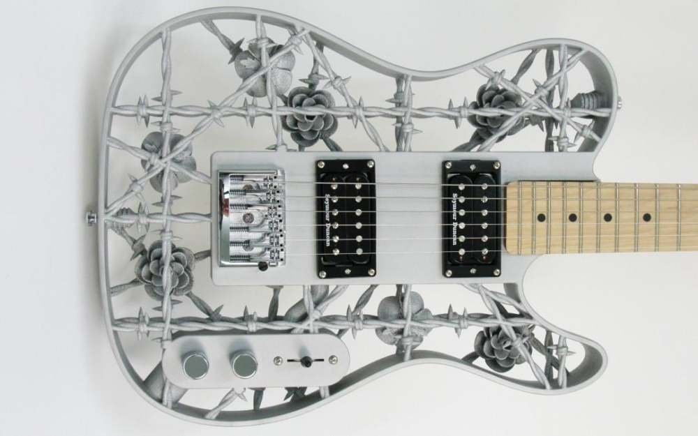 профессор напечатал гитару на 3д принтере