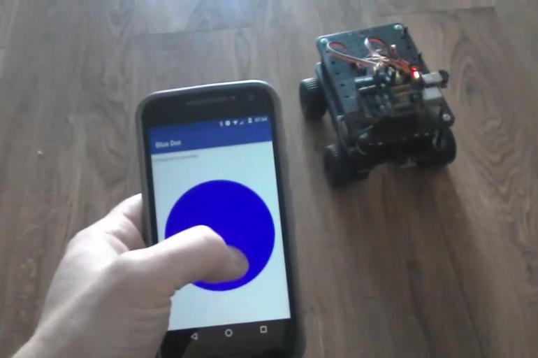 blue dot программа для управления android с помощью raspberry pi