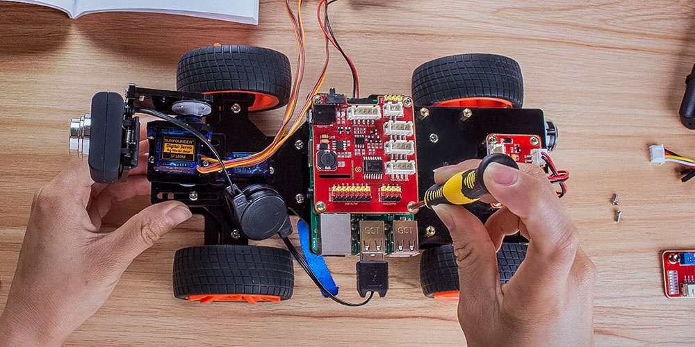 машинка робот на rasbberry pi