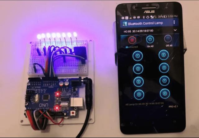 Bluetooth Controller 8 Lamp